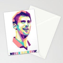 Novak Djokovic wpap Stationery Cards