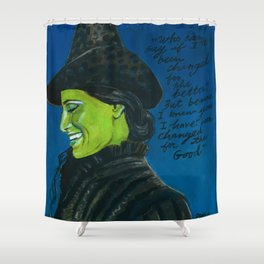 Elphaba-Wicked Shower Curtain