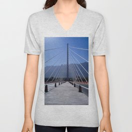The united bridge, Monterrey, Mexico Unisex V-Neck