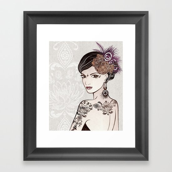 Belly Dance 2 Framed Art Print
