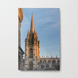 Spire of St. Mary the Virgin Anglican Church Oxford University England Metal Print