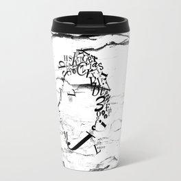 Typeface distressed Travel Mug