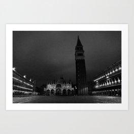 Night in Piazza San Marco, Venice Art Print