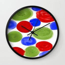 RED BLUE GREEN Wall Clock