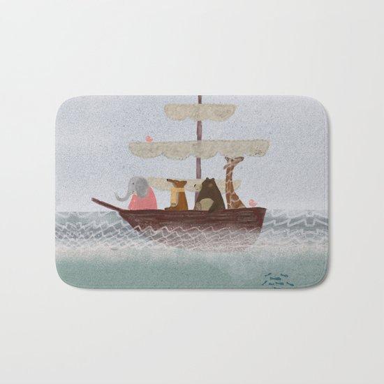 setting sail Bath Mat
