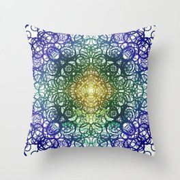 Symmetry 5: Jungle Throw Pillow