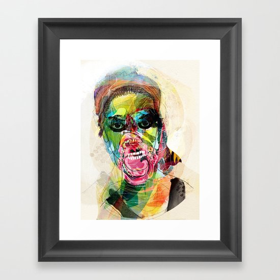 The human beast Framed Art Print