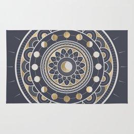 Winter Moon Mandala Rug