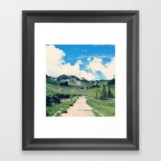 Up Mount Rainier Framed Art Print
