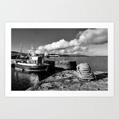 Old Fishing Boat Lerwick Shetland Art Print