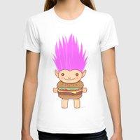 hamburger T-shirts featuring  Hamburger Troll by Noel ILL