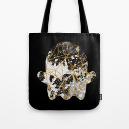 Emoji ghost abstract with splash Tote Bag