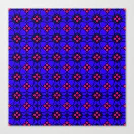 Purple and Pink Mosaic Pattern Canvas Print