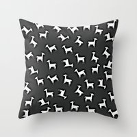 lama Throw Pillows featuring LAMA by Monika Strigel®