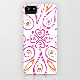 Indian Love Mandala iPhone Case