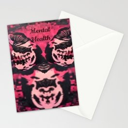 Black and Red Mental Health Stationery Cards