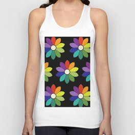 Flower pattern based on James Ward's Chromatic Circle (enhanced) Unisex Tank Top