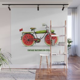 ORGANIC INVENTIONS SERIES: Vintage Watermelon Bicycle Wall Mural