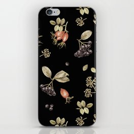 rosehip, chokeberries and teasel III iPhone Skin