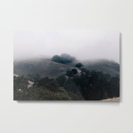 Misty Mountain Forest Metal Print