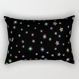 Colored Sparkling Stars Rectangular Pillow