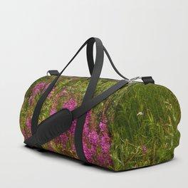 Alaskan Glacier & Fireweed Duffle Bag