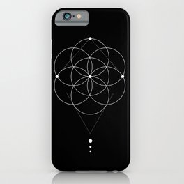 Seed Of Life Geometry Black iPhone Case