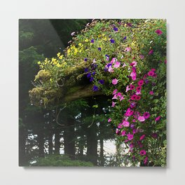 Flowers in the Alaskan Forest Metal Print