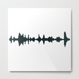 Sound repitition Metal Print