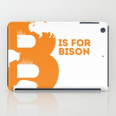 B is for Bison - Animal Alphabet Series iPad Case