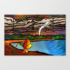 Doodlage 01 - As the seagull flies Canvas Print