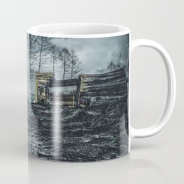 Poltery Site (Wood Storage Area) After Storm Victoria Möhne Forest dark Coffee Mug