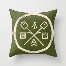 S'mores Society Throw Pillow