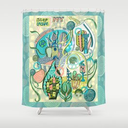 My Tiny Universe. Shower Curtain
