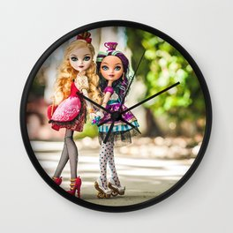 Ever After - Apple White and Madeline Hatter Wall Clock