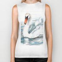 swan queen Biker Tanks featuring Swan by rchaem