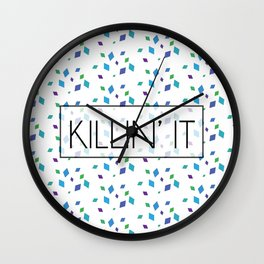 Killin' It Confetti Wall Clock
