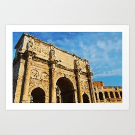 Rome - The Arch of Constantine Art Print