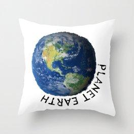 Planettaria - beautiful Earth Throw Pillow