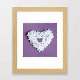 Purple You are in my heart Framed Art Print