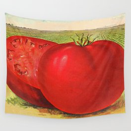 Vintage Illustration of a Beefsteak Tomato (1905) Wall Tapestry