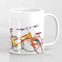 bikes Mugs featuring bikes by takmaj