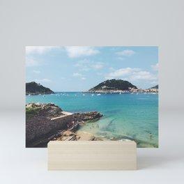 Summer in Donosita San Sebastian Spain Beach 2 Mini Art Print