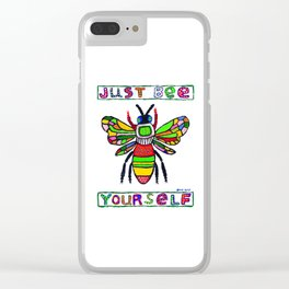 Just Bee Yourself Clear iPhone Case