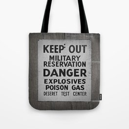 keep out sign Tote Bag