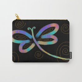 Funky Abstract Dragonfy Digital Painting Carry-All Pouch