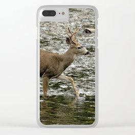 Young Buck Crossing The River Clear iPhone Case