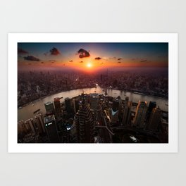 Shanghai Sunset Art Print