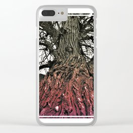 Gradient Spider Tree Clear iPhone Case