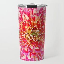 Pink Watercolor Flower Travel Mug